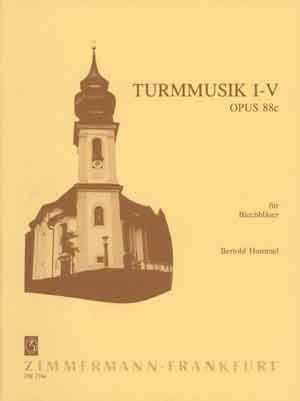 Turmmusik Nr.1-5 opus.88c: für 2 Trompeten und 2 Posaunen