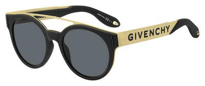 Givenchy gv 7017/n/s ir 2m2 occhiali da sole, nero (black gold/brown), 50 unisex-adulto