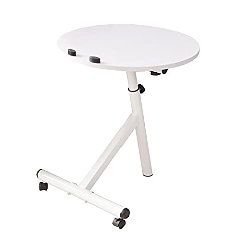 Emall Life Functional Laptop Desk Notebook Table Adjustable Over Sofa Bed Stand Holder with Wheels, 3 Colors (White)