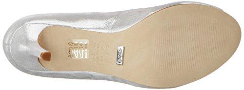 Buffalo London Zs 7155-16 Aqua Metalic, Scarpe Col Tacco con Cinturino a T Donna Argento (Silver)