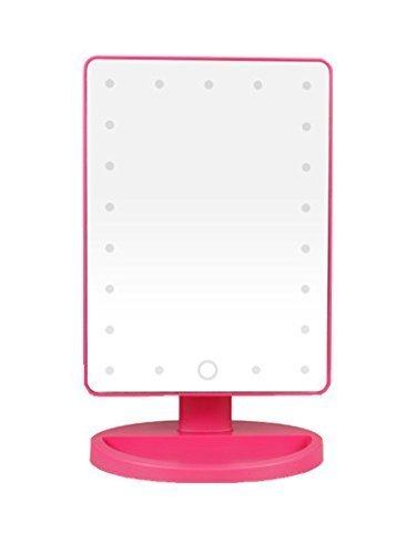 FDA3H / LED beleuchteter Kosmetikspiegel - 16 geführte Glühlampen-Tischplatte-Eitelkeit beleuchtetes Schönheits-Make-upTouch-Spiegel für Badezimmer, Schlafzimmer, Reise, Rasur, Dressing, großes Valent -