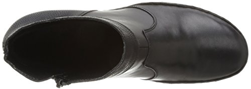 Rieker 77171-00 Damen Kurzschaft Stiefel Schwarz (schwarz/schwarz / 00)