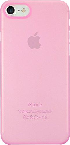 Ozaki O!Coat 0.3 Jelly Slim Schutzhülle für Apple iPhone 7 / 8 in pink [0.3mm dünn | 4g leicht | Extrem passgenau | Transparent] - OC735PK