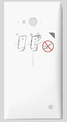 Ashish Replacement Back Door Cover Panel for Microsoft Nokia Lumia 730 - White (with NFC)