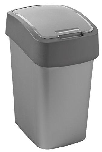 Abfallbehälter Flip Bin 25 Liter silber/anthrazit