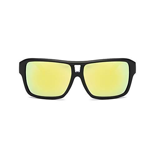 Easy Go Shopping Pouch & Cross Set Unisex Sonnenbrille Polarized Lens Wellington Sonnenbrille Sonnenbrillen und Flacher Spiegel (Color : Gelb, Size : Kostenlos)