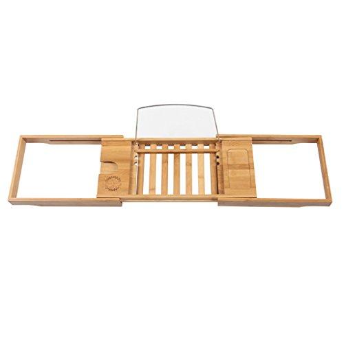 Weinregal ZCJB ausziehbaren Seiten Built In Buch Tablet Halter Handy Tray & integrierte Weinglas...