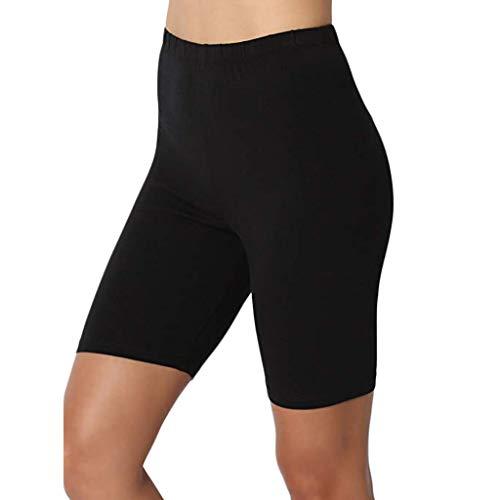 Caerling❤ Damen Kurze Leggings Knielange Leggins Elastische Kurze Radlerhose Sicherheits Shorts -