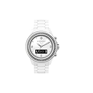 MyKronoz Krze Clock White Swarovski Pedometer Smart Watch, Bluetooth White