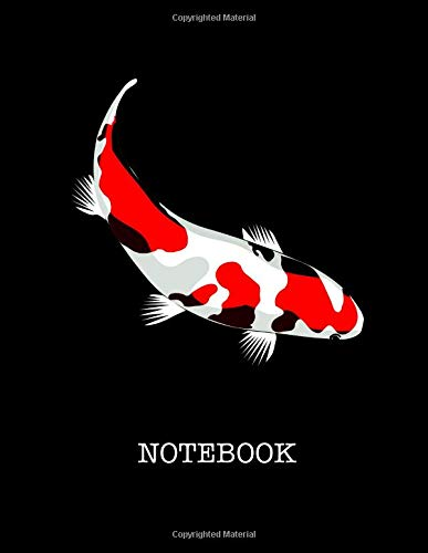 Notebook. For Koi Fish Lover. Blank Lined Notebook Planner Journal Diary. - Koi-live