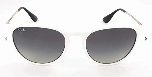 Ray-Ban RAYBAN Unisex-Erwachsene Sonnenbrille 4171 Shiny White Sp Red/Greygradientdarkgrey, 54