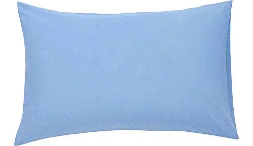 Roy Textile Ltd - Fundas de Almohada de percal de fácil Planchado, poliéster algodón, Azul, 50 x...