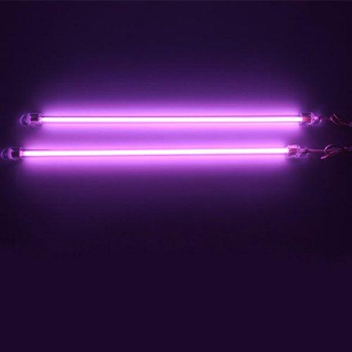 HOTSYSTEM 2x 30cm Auto KFZ Innenbeleuchtung Fußraumbeleuchtung Neonröhren Lila (Cd-kennzeichen-licht-lampe)