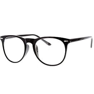 Y&S Wayfarer Women's Men's Boy's Girl's Sunglasses (Wf-Round-002|Clear)