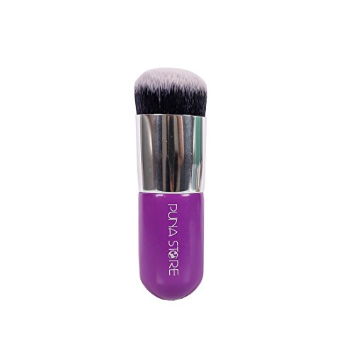 Puna Store Face Powder Blush Brush (Purple + Silver)