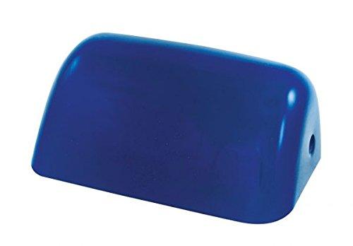 Kleiner Schirm für Bankerslampe, blau 18x7x11cm- Glasschirm