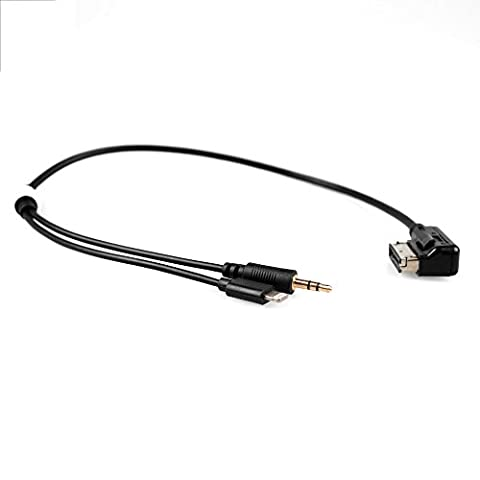 APPS2Car AMI MDI MMI Mp3 Music Interface Audio Adapter-Kabel 3,5mm AUX Lightening Kabel für Audi A3 A4 S4 A5 S5 A6 S6 A8 Q5 Q7 R8 VW Jetta GLI Passat CC Tiguan Touareg EOS für iPod iPhone 7 7S iPhone 6 6 plus 5S iPad
