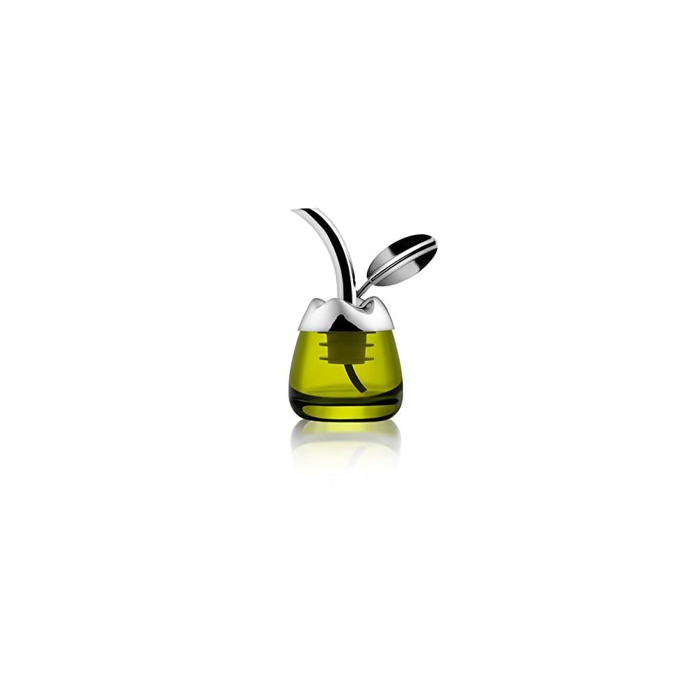 Alessi Fior D Olio Olivenlkoster Aus Glas Mit Ausgiesser Aus Edelstahl 1810 Glnzend Poliert Und Thermoplastischem Harz