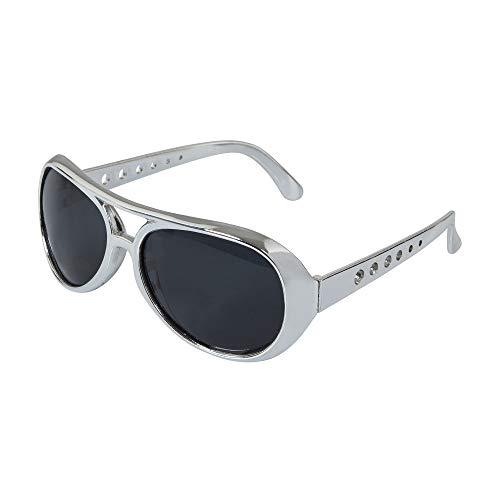Bristol Novelty BA244 Rock Star Sonnenbrille, Silber, Unisex- Erwachsene, Einheitsgröße