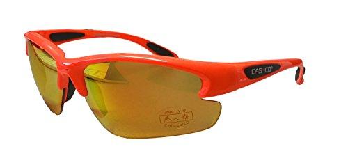 Casco Sportbrille SX-20 Polarized Sonnenbrille Fahrrad Brille Ski Snowboard, 09.1100., Farbe orange