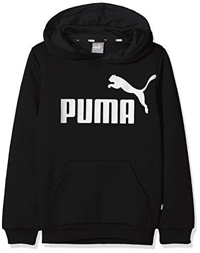 Puma ESS Logo Hoody FL B Sweat-Shirts Garçon, Noir (Cotton Black), FR Taille Unique (Taille Fabricant : 164)