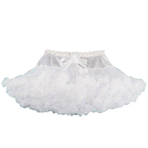 Ragazza Bello Gonna Con Tulle Ballerina Ballo Balletto Gonna A Tutù Per Danza Bianco