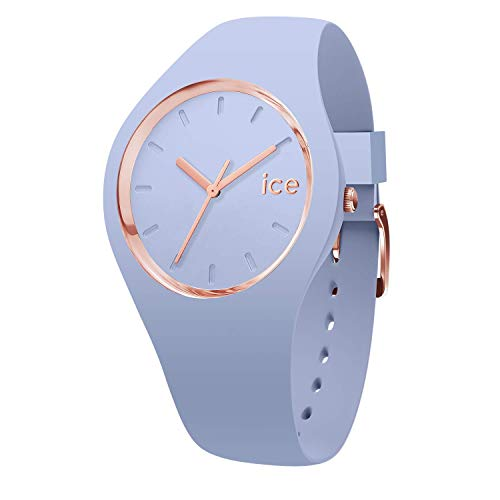Ice-Watch - Ice Glam Colour Sky - Blaue Damenuhr mit Silikonarmband - 015333 (Medium)