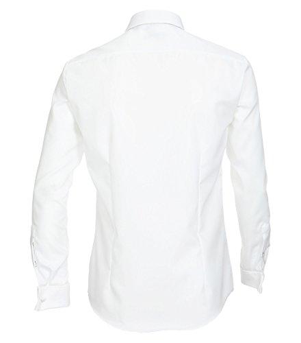 Michaelax-Fashion-Trade -  Camicia Casual  - Basic - Classico  - Maniche lunghe  - Uomo Weiß (000)