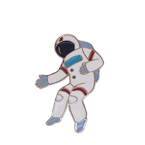(kemai Kreatives Abzeichen Schöne Legierung Brosche Emaille Pin Hut Schmuck Eisbär Spaceman Drop Öl Legierung Brosche Ballon Hund Eiscreme Kragen Brosche, Astronaut)