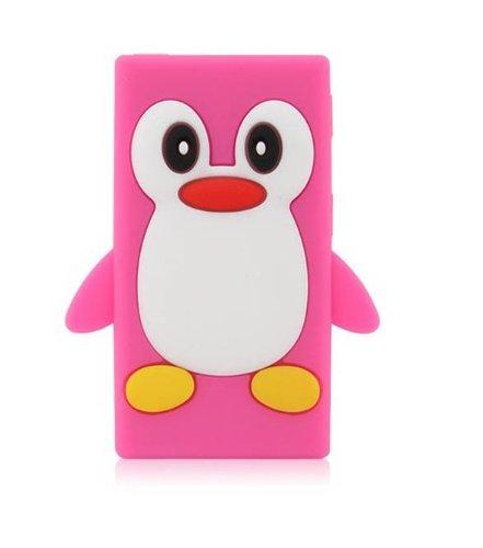 Tinkerbell Trinkets® Heiß Rosa Apple iPod NANO 7 7th Generation Pinguin niedlichen Tier Silikonhülle Shell Beschützer Handy Smartphone Zubehör