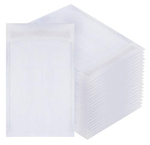 Weiß Kraft Bubble Versandtaschen 6x 9Gepolsterte Umschläge 6x 9von amiff. 20Stück Papier Kissen Briefumschläge. Außenseite Größe 6X 10(6x 10). schälen und Seal. Mailing-, Versand, Verpackung. (4x6 Umschläge Gepolsterte)
