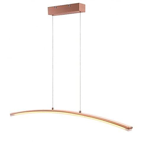 Luxus LED 18 W Hänge Leuchte Licht Pendel Lampe Esstisch Kupferfarbe Acryl satiniert Globo 67813