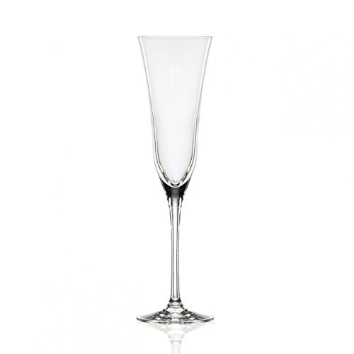Novastyl 8017144 Lot de 6 Flutes en Cristal de Toscane PIENZA Contenance 17 CL
