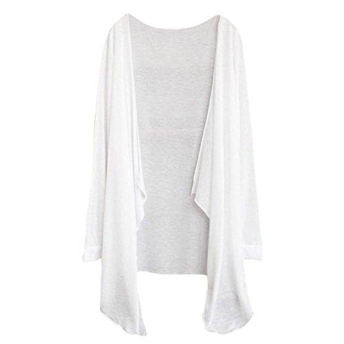 Felpe Donna Yanhoo Donne lunghe cardigan sottile moda protezione solare Abbigliamento Top A
