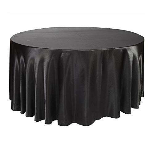 Tovaglia di raso rotonda nera/bianca - tovaglia circolare/ovale tovaglia antipolvere per cucina di casa tavolo da pranzo ristorante per matrimoni ristorante decorazione per banchetti