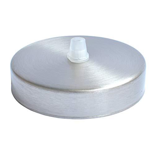 D&S Vertriebs GmbH Baldaquin de plafond en acier brossé avec soulagement de traction et matériel de fixation pour suspension au plafond (rosace/baldaquin au plafond, 1