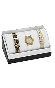 Guess - Reloj de cuarzo para mujer, con correa de cuero, color multicolor de Guess