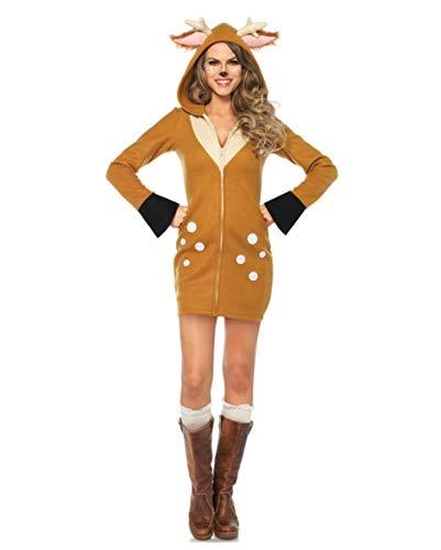 Horror-Shop Rehkitz Bambi Faschingskostüm für Frauen - Rehkitz Kostüm