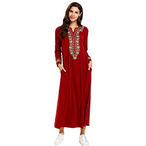 ZYUEER Traje De Mujer MusulmáN TúNica Abaya IsláMica áRabe Kaftan Dubai Vestido
