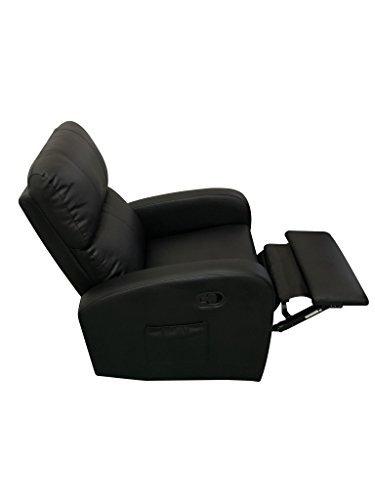 Boudech poltrona relax vibrante reclinabile similpelle riscaldabile tv 10 punti vibranti (nero)
