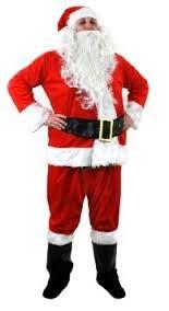 Santa WEIHNACHTSMANN KOSTÜM VERKLEIDUNG Grotto Professionals = ERHALTBAR IN 8 VERSCHIEDENEN GRÖßEN = XXXXXLARGE (Real Santa Claus Kostüm)