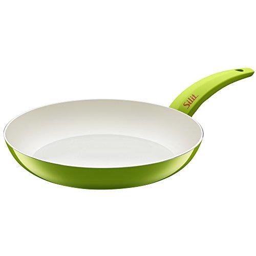 Silit Selara Bratpfanne, Ø 28 cm Aluguss beschichtet, Keramikpfanne Kunststoffgriff, grün