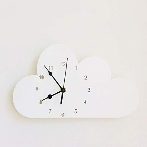XYQY Nordic Cute Cloud Forma Elefante Reloj Pared