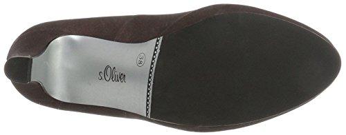 s.Oliver 22400, Scarpe con Tacco Donna Rosso (Bordeaux Metal)