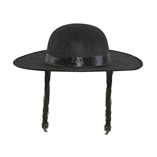Woollen Hat - Imitation Rabbi Jacob - Black With ()