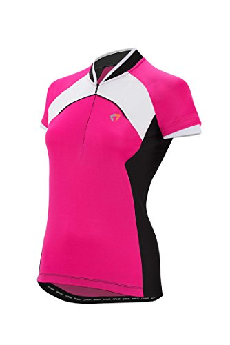 Briko GT Jersey Lady - Maillot de ciclismo para mujer, color fucsia / negro / blanco, talla M