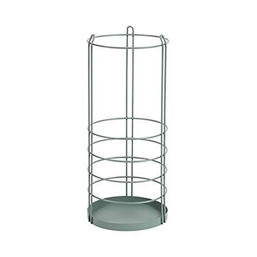 Portaombrelli nordic iron art stand the mall hotel umbrella storage bucket shelf (colore : green)