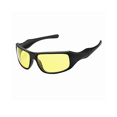ZPATYJFG Nachtsichtbrille Für Fahrer HD Wrap Arounds Sonnenbrille Herren Multifunktionsbrillen Outdoor-Reitbrillen Blendschutz