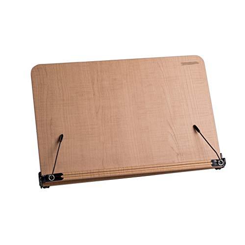 ssok shelf Hölzerne Portable Desktop Lesen Stand, Verstellbar Fach und Seite büroklammern Student Kinder Erwachsenen Buchstütze Rest Lesung-bücherregal-Hellbraun 39.5x26cm(16x10inch) -