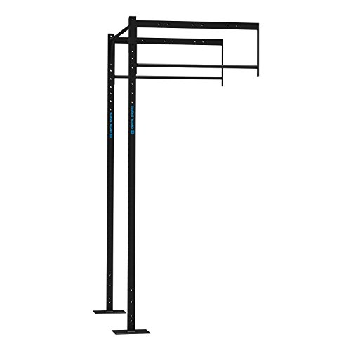 CAPITAL SPORTS Dominate R-Add 114.173 Fitness Power Rack Kraft-Training Cross-Training-Rack Klimmzugstange Anbauteil (2 x PU Station 2 x Squat Station, 2x Pull-up station) Stahl Schwarz